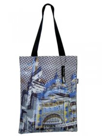 Tote Bag 40x33cm Flinders Street Blue
