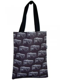 Tote Bag 40x33cm Trams Black