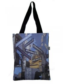 Tote Bag 40x33cm Melbourne Signs Natural