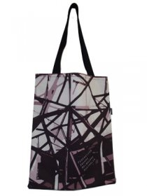 Tote Bag 40x33cm Fed Sqaure Blacks & Greys