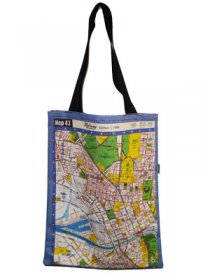 Tote Bag 40x33cm Melway Maps Natural for most suburbs