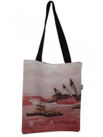 Tote Bag 40x33cm Sydney Harbour Red