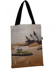 Tote Bag 40x33cm Sydney Harbour Tan