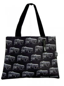 Handy Bag 33x40cm Trams Black