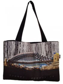 Handy Bag 33x40cm Harbour Bridge Halftone Rain