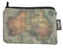 Ipod / Coin Case 13x9cm Australia 1870 Map