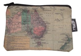 Ipod / Coin Case 13x9cm Australian Map 1923