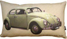 "Cushion 50x30cm 1962 VW Deluxe Sedan ""Beetle"""