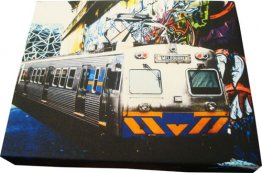 Canvas Art 20x25cm Melbourne Hosier Lane Train