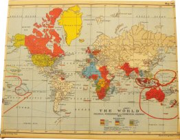 Canvas Art 20x25cm World Map 1910
