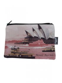 Pencil Case 18x10cm Sydney Harbour Red