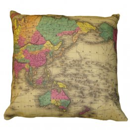 Cushion Colton's Globe World Map