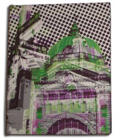 Art Canvas Small 20x25 Flinders Street Green