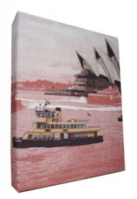 Art Canvas Small 20x25 Sydney Harbour Red