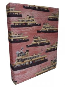 Art Canvas Small 20x25 Ferries on Red