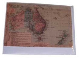 Greeting Card A6 Australian Map 1923