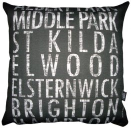 Cushion Destination Scroll Albert Park to Hampton Vintage (Various Colours)