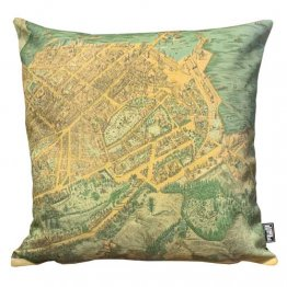 Cushion Auckland New Zealand Map 1885