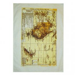 Tea Towel 50x70cm Linen/Cotton Australia & NZ 1923 Map