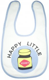 Bib Happy Little Vegemite Blue
