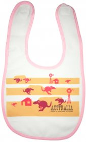 Bib Kangaroo Fun Red