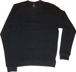 Unisex Long Sleeve Black Waffle Top