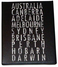 Art Canvas 20x25cm Australian Destination Scroll