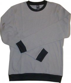 Unisex Long Sleeve Grey Waffle Top