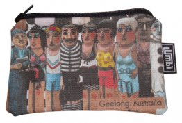 Ipod / Coin Case 13x9cm Geelong Bollards