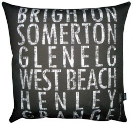 Cushion Destination Scroll Brighton to Grange Vintage (Various Colours)