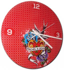 Clock 27cm Personalised Time for Love