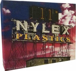 Canvas Art 20x25cm Nylex Plastic Clock Sign Pink