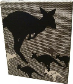 Canvas Art 20x25cm Kangaroo Dots
