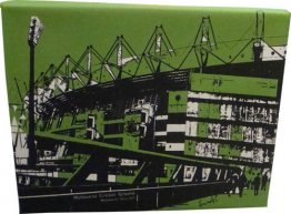 Canvas Art 20x25 Melbourne Cricket Ground Green