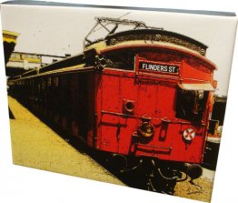 Canvas Art 20x25cm Red Rattler Tait Train