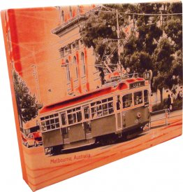 Canvas Art 20x25cm Tram Neg Pink/Orange