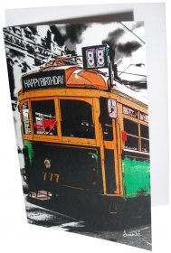 Greeting Card A6 Lucky Tram Happy Birthday