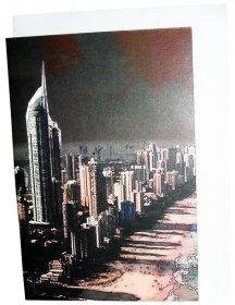 Greeting Card A6 Gold Coast Q1 Retro
