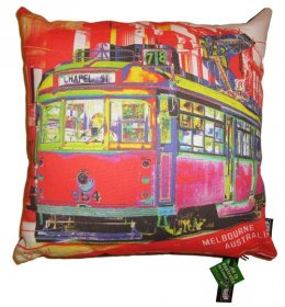 Cushion Chapel Street Tram Red