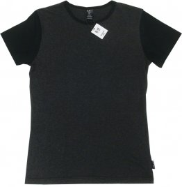 Unisex T-Shirt Charcoal with Black Sleeves Blank
