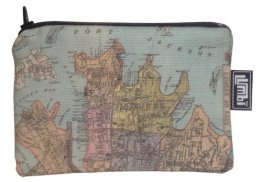 Ipod / Coin Case 13x9cm City of Sydney 1885 Map