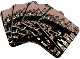 Coasters Set of 4 Melbourne Cricket Ground Gre