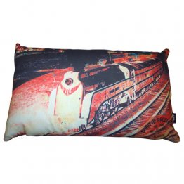 Cushion 50x30cm Spirit of Progress Train Red