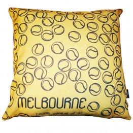 Cushion Melbourne Tennis Capital Yellow
