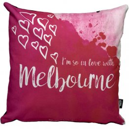 Cushion I'm So In Love with Melbourne Pink
