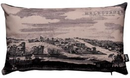 Cushion 50x30cm Melbourne From The Yarra Yarra 1839
