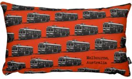 Cushion 50x30cm Trams Red