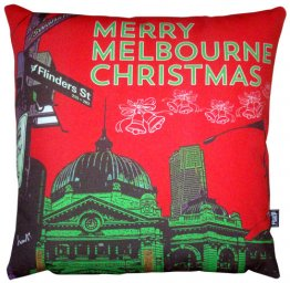 Cushion Merry Melbourne Christmas
