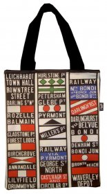 Tote Bag 33X40cm Sydney Tram Destination Scroll