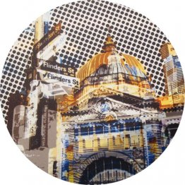 Mouse Pad Flinders Street Yellow